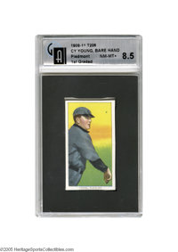 1909-11 T206 Cy Young Bare Hand Shows GAI NM-MT+ 8.5. There's surely no need to go on and on about how unlikely it is fo...