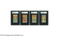 Baseball Cards:Lots, 1909-11 American Caramel E90-1 Hall of Famers SGC-Graded Lot of 4.A favorite issue among candy card collectors, the E90 se...