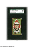 Baseball Cards:Singles (Pre-1930), 1911 T205 Gold Border Walter Johnson SGC NM+ 86. The twenty-threeyear old Kansas fireballer had yet to notch his 100th of ...