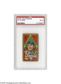 Baseball Cards:Singles (Pre-1930), 1911 T205 Gold Border Cy Young PSA EX 5. The definitive Hall of Fame pitcher was putting the finishing touches on his 511 c...