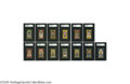 Baseball Cards:Lots, 1911 T205 Gold Border SGC-Graded Lot of 13. Birthed from packs ofancient smokes, and laid to rest in SGC slabs. One must ... (13Items)