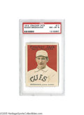 Baseball Cards:Singles (Pre-1930), 1915 Cracker Jack Roger Bresnahan #17 PSA NM-MT 8. Ninety yearsold, and still fresh as a daisy! We can't even imagine how...