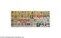 Baseball Cards:Other, 1934 World Wide Gum Uncut Sheet of Forty-Eight Cards. The firstforty-eight cards from this gorgeous set differ from the de...