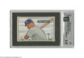 """Baseball Cards:Singles (1950-1959), 1951 Bowman Mickey Mantle #253 GAI NM-MT+ 8.5. """"Mickey is theYankee rookie of whom so much is expected in 1951,"""" begins th..."""