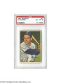 Baseball Cards:Singles (1950-1959), 1952 Bowman Yogi Berra #1 PSA NM-MT 8. The first and last cards ina vintage set are always very tough to find in a high-gr...