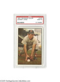 "Baseball Cards:Singles (1950-1959), 1953 Bowman Color Johnny Lipon #123 PSA Mint 9. ""Skids"" split timebetween the Red Sox and Browns this season, appearing he..."