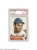 Baseball Cards:Singles (1950-1959), 1953 Topps Yogi Berra #104 PSA NM-MT 8. Out of over five hundred attempts, only three Berra cards from Topps' second full i...
