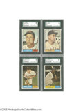 Baseball Cards:Lots, 1961 Topps Baseball High Numbers SGC Mint 96 Lot of 4.Short-printed quartet are exceptionally tough to find in suchpack-f...