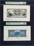 Canadian Currency, Saint John, NB- Bank of New Brunswick $50 Jan. 2, 1906 Ch. # 515-18-14FP; BP Face Proof and Back Proof.. ...