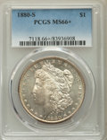 Morgan Dollars, 1880-S $1 MS66+ PCGS. PCGS Population: (11146/2525). NGC Census: (11718/3492). MS66. Mintage 8,900,000....