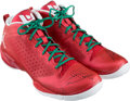 """Basketball Collectibles:Others, 2011 Dwyane Wade Signed Game Worn """"Christmas Day"""" Sneakers...."""