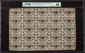 Fractional Currency:Third Issue, Fr. 1226 3¢ Third Issue PMG Extremely Fine 40 Uncut Sheet.. ...
