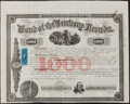 Obsoletes By State:Nevada, Carson City, Nevada Territory- Bond of the Territory of Nevada $1000 Mar. 15, 1864. ...