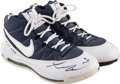 Basketball Collectibles:Others, 2008-09 Russell Westbrook Game Worn & Signed Sneakers - RookieSeason. ...