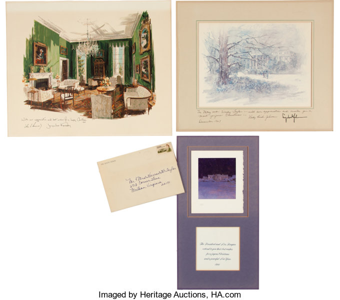 john f kennedy et al white house christmas card collection
