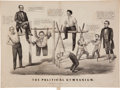 Political:Posters & Broadsides (pre-1896), Abraham Lincoln: 1860 Currier & Ives Cartoon....