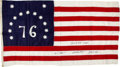 Political:Textile Display (1896-present), Gerald R. Ford: Perfectly-Documented, Authenticated, Presidential-Signed Bicentennial Flag and Coins. ...