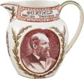 Political:3D & Other Display (pre-1896), James A. Garfield: Wedgwood Etruria Pitcher....