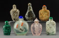 Asian:Chinese, Seven Chinese Mixed Media Snuff Bottles2-3/4 i...