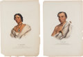 Western Expansion:Indian Artifacts, McKinney & Hall: Prints of Native Americans.... (Total: 2 Items)