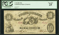 Confederate Notes:1861 Issues, T10 $10 1861 PF-16 Cr. 36A.. ...