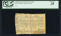 Colonial Notes:North Carolina, North Carolina May 28, 1757 20s per Centum PCGS Very Fine 20.. ...
