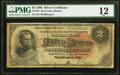 Large Size:Silver Certificates, Fr. 243 $2 1886 Silver Certificate PMG Fine 12.. ...