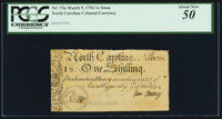 North Carolina March 9, 1754 1s Swan PCGS About New 50