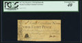 Colonial Notes:North Carolina, North Carolina March 9, 1754 8d Butterfly PCGS Extremely Fine 40.....
