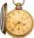 Political:Small Miscellaneous (pre-1896), Jackson & Van Buren: Gold Jugate Pocket Watch. ...