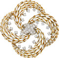 Estate Jewelry:Brooches - Pins, Diamond, Enamel, Platinum, Gold Brooch, David Webb
