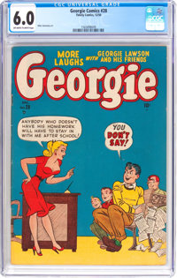 Georgie Comics #28 (Timely, 1950) CGC FN 6.0 Off-white to white pages