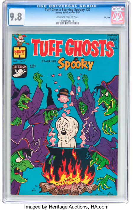 Tuff Ghosts Starring Spooky #27 File Copy (Harvey, 1967) CGC NM/MT 9.8 Off-white to white pages....