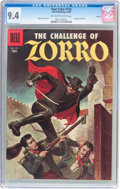 Silver Age (1956-1969):Miscellaneous, Four Color #732 Zorro - Circle 8 Pedigree (Dell, 1956) CGC NM 9.4 Off-white to white pages....