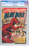 """Golden Age (1938-1955):Science Fiction, Blue Bolt #107 Davis Crippen (""""D"""" Copy) pedigree (StarPublications, 1950) CGC FN/VF 7.0 Off-white to white pages...."""