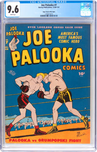 Joe Palooka Comics #7 Mile High Pedigree (Harvey, 1946) CGC NM+ 9.6 White pages