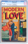 Golden Age (1938-1955):Romance, Modern Love #1 (EC, 1949) CGC VG 4.0 Cream to off-white pages....