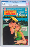 Silver Age (1956-1969):Romance, Heart Throbs #112 (DC, 1968) CGC NM 9.4 Off-white to whitepages....