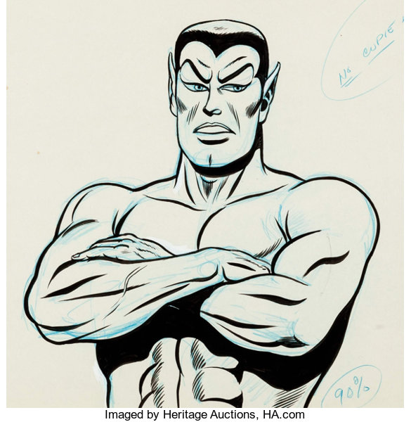 The Marvel Super Heroes Sub Mariner Inked Animation Drawings And