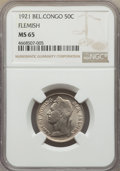Belgian Congo, Belgian Congo: Belgian Colony. Albert 50 Centimes 1921 MS65 NGC,...