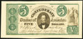 Confederate Notes, CT33/250 $5 1861 Counterfeit.. ...