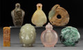 Carvings, Seven Various Chinese Hardstone Carvings. 2-3/8 inches (6.0 cm) (tallest, bottle). ... (Total: 7 Items)