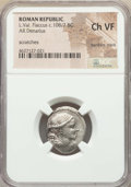 Ancients:Ancient Lots  , Ancients: ANCIENT LOTS. Roman Republic. Ca. 108-82 BC. Lot of five(5) AR denarii. NGC Choice Fine - Choice VF. ... (Total: 5coins)