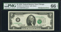Error Notes:Shifted Third Printing, Fr. 1935-G $2 1976 Federal Reserve Note. PMG Gem Uncirculated 66 EPQ.. ...