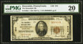 National Bank Notes, Honesdale, PA - $20 1929 Ty. 1 The Honesdale NB Ch. # 644. ...
