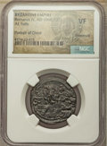 Ancients:Ancient Lots , Ancients: ANCIENT LOTS. Byzantine. Ca. AD 1059-1081. Lot of four(4) AE Christ portrait folles. NGC VF-Choice VF.... (Total: 4coins)