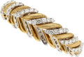 Estate Jewelry:Bracelets, Diamond, Platinum, Gold Bracelet. ...