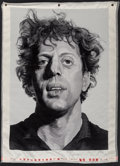 Works on Paper, Chuck Close (b. 1940). Phil , from the BAM III portfolio, 1991. Woven silk tapestry. 51-3/4 x 38-1/4 inches (131.4 x...