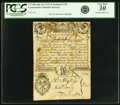Colonial Notes:Connecticut, Colony of Connecticut July 10, 1733 Redated 1735 3 Shillings Fr.CT-43b. PCGS Very Fine 30 Apparent.. ...