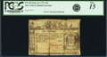 Colonial Notes:New York, Colony of New York February 16, 1771 10 Shillings Fr. NY-162. PCGSFine 15 Apparent.. ...